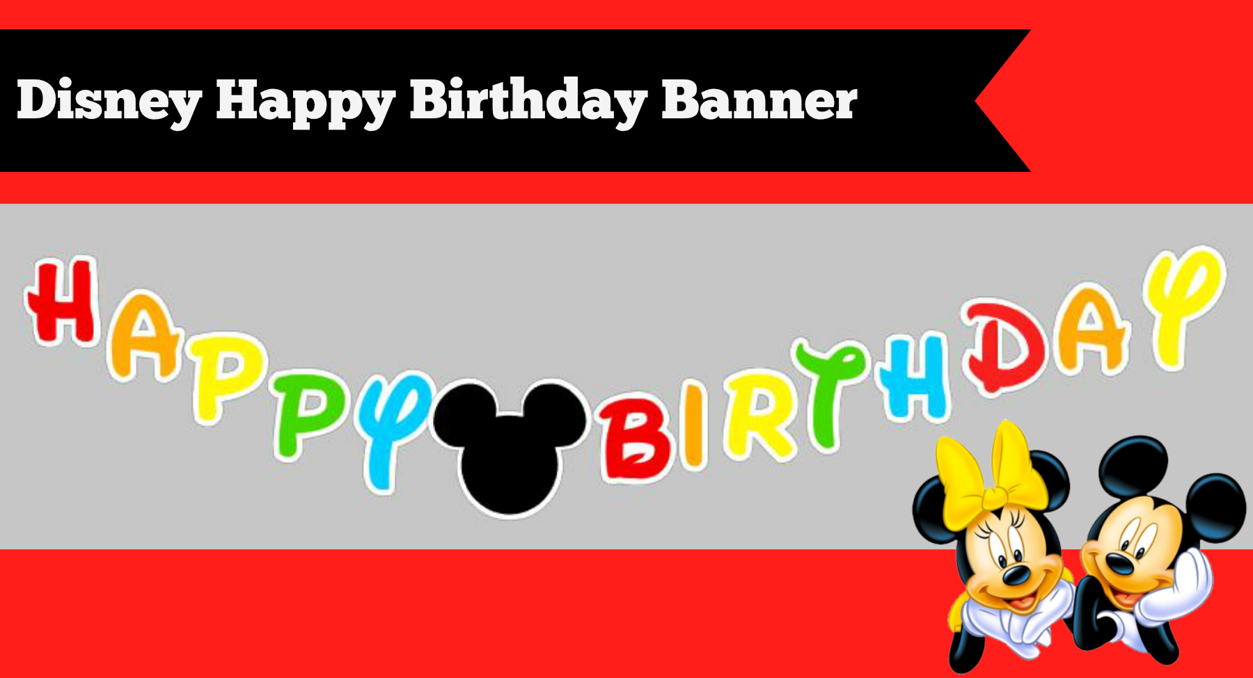Free Mickey Mouse Happy Birthday Banner ...