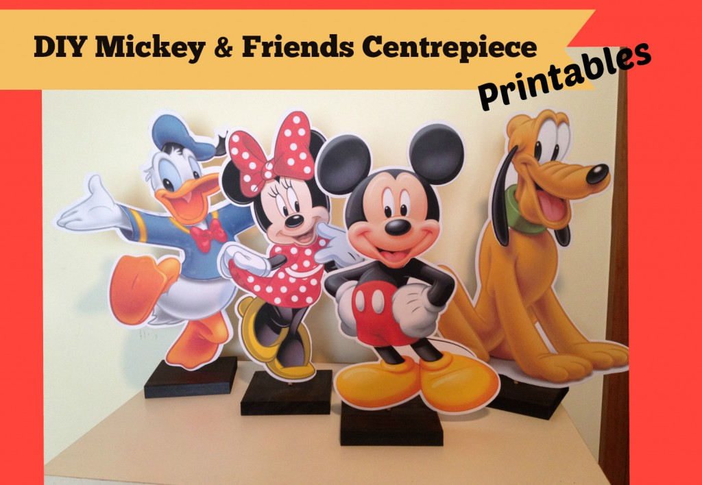 Mickey Mouse Clubhouse Centerpiece printables for FREE DIY