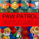 PAW PATROL BOTTLE LABELS