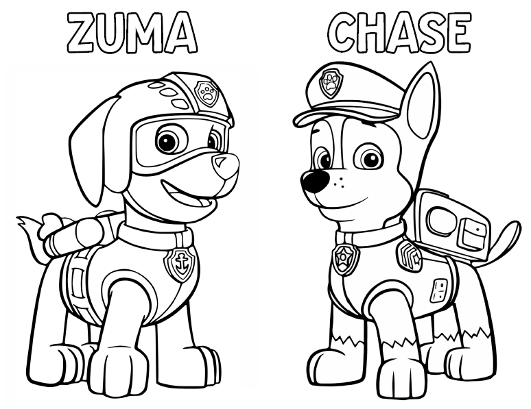 ZUMA CHASE COLORING PAGES Ellierosepartydesigns.com