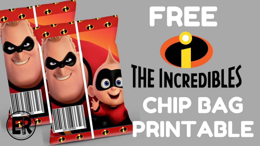 FREE THE INCREDIBLES CHIP BAG PRINTABLE TEMPLATE