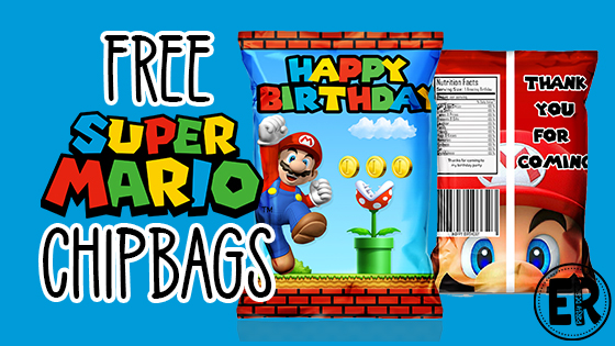 SUPER MARIO BROTHER CHIP BAG PRINTABLE PARTY IDEA