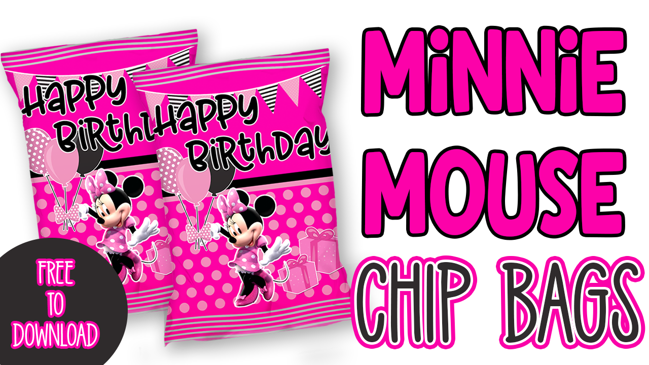 FREE MINNIE MOUSE CHIP BAG PRINTABLE TEMPLATE