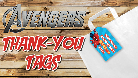 THE AVENGERS THANKS YOU TAGS FAVOUR BAGS