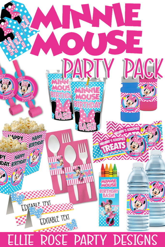 MINNIE MOUSE BOWTIQUE BIRTHDAY PARTY PRINTABLE PACKAGE DISCOUNT WHITE BACKGROUND