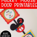FREE MICKEY MOUSE CLUBHOUSE PARTY DOOR SIGN PRINTABLE IDEAS