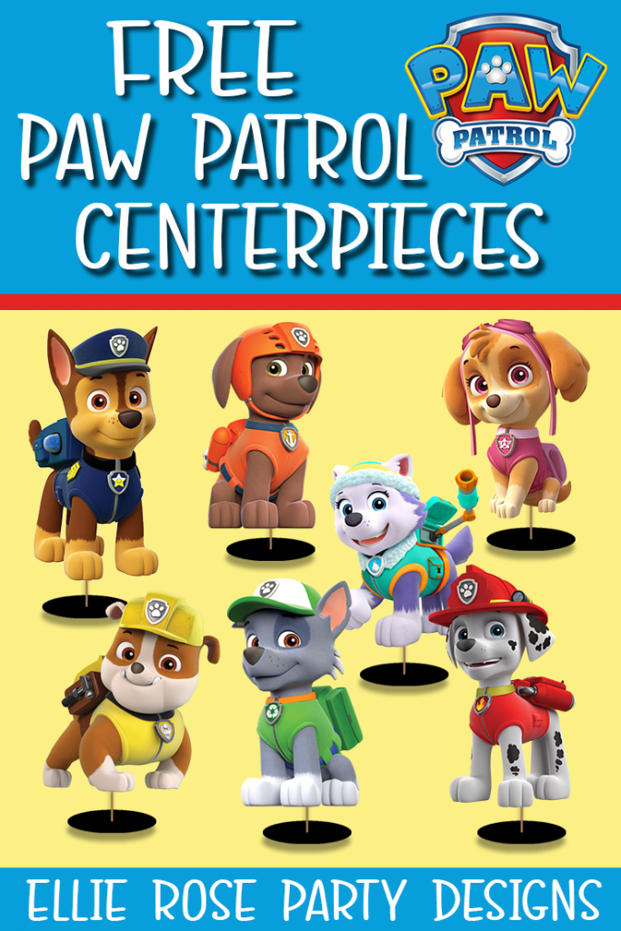 FREE PAW PATROL TABLE DECORATION SET UP CENTERPIECES