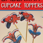 FREE SPIDERMAN CUPCAKE TOPPERS
