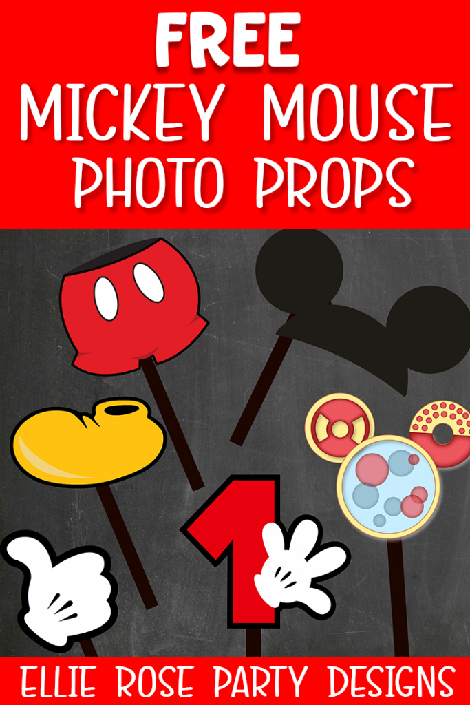 Mickey Mouse photo props printables Free TO DOWNLOAD