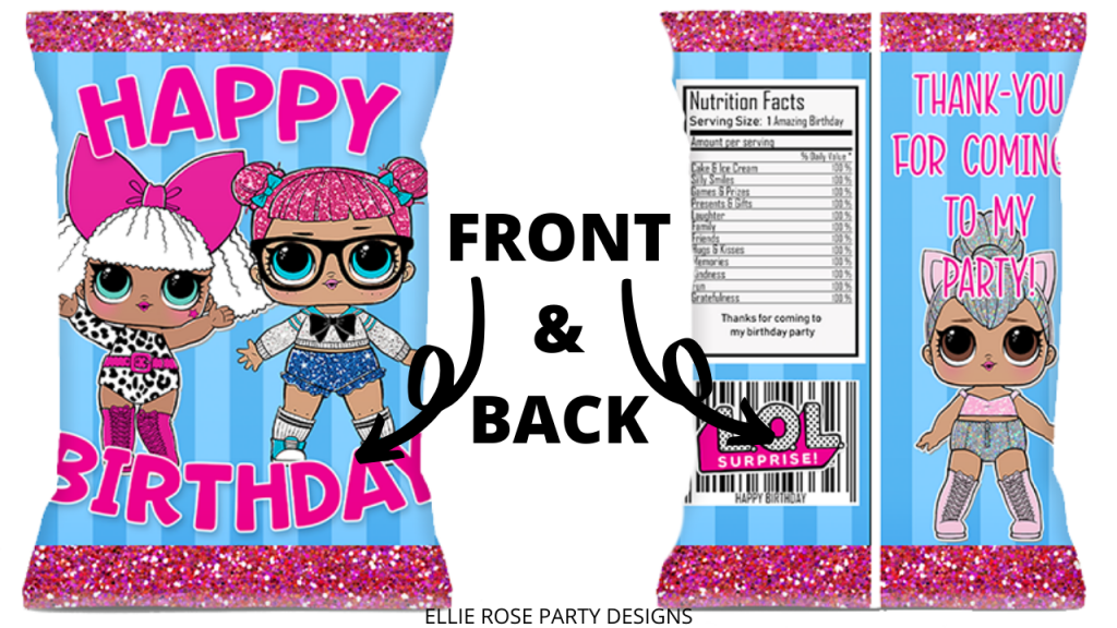FREE LOL SUPRISE DOLL PARTY FAVOR CHIP BAG PRINTABLE TEMPLATE