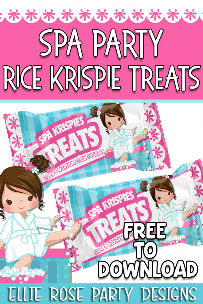FREE SPA PARTY RICE KRISPIE TREATS PARTY FAVORS 2