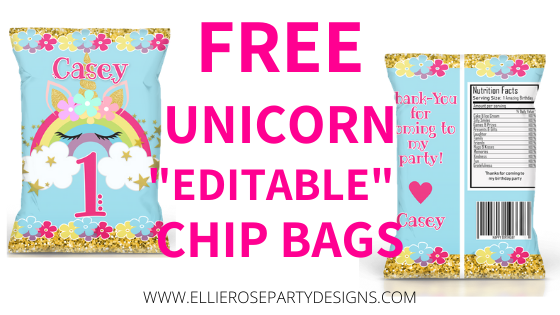 Party Favor Chip BagsThemed Chip BagsParty Favors DIY Chip Bags